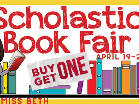 Scholastic BOGO Book Fair April 19-April 23