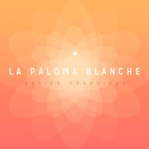 """LA PALOMA BLANCHE  ////////////////////////////////////  Logo / Logotype  Design Graphique  version""""Rose des Sables""""  ////////////////////////////////  Design Banc-Titre,  Documentaire, Fiction & Animation 2D  ////////////////////////////////  """" L'Art subtil de combiner Image,Typographie & Musique. """"  ////////////////////////////////  Stéphanie Carraro, l'Atelier de La Paloma Blanche."""