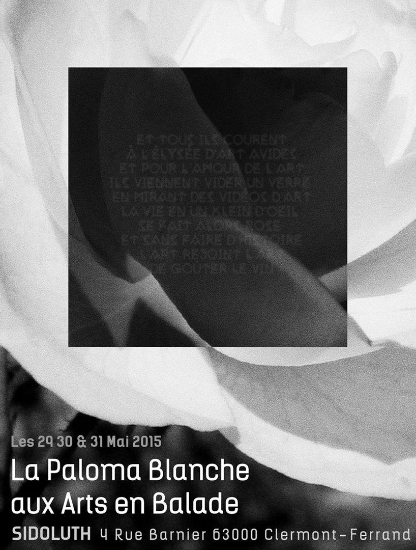 LA PALOMA BLANCHE /////////////////////////////////////// Affiche Poster d'Exposition pour l'Association Les Arts en Balade /////////////////////////////////  Stéphanie Carraro, l'Atelier de La Paloma Blanche.