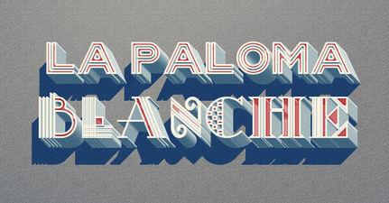 LA PALOMA BLANCHE  /////////////////////////////////////  Sepécialiste en Typographie  Conception & Refonte  de Logotype  Réalisation Typographique 3D sous Adobe Photoshop /////////////////////////////////////  Stéphanie Carraro, l'Atelier de La Paloma Blanche.