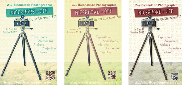 NICÉPHORE-OFF ///////////////////////////// Affiches Poster d'Exposition Flyers de promotion Édition Série en Recto / Verso & Dossier de Presse  pour le Collectif Associatif Le Off de Nicéphore  ////////////////////////////////  Stéphanie Carraro, l'Atelier de La Paloma Blanche.