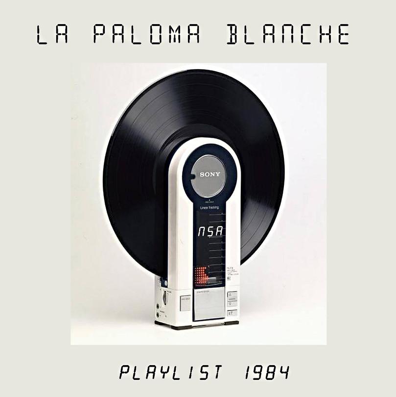 PLAYLIST 1984  /////////////////////////  Conception Graphique de Cover CD  & Présentation Web  En écoute sur Soundcloud  ///////////////////////////////////  Stéphanie Carraro, l'Atelier de La Paloma Blanche.