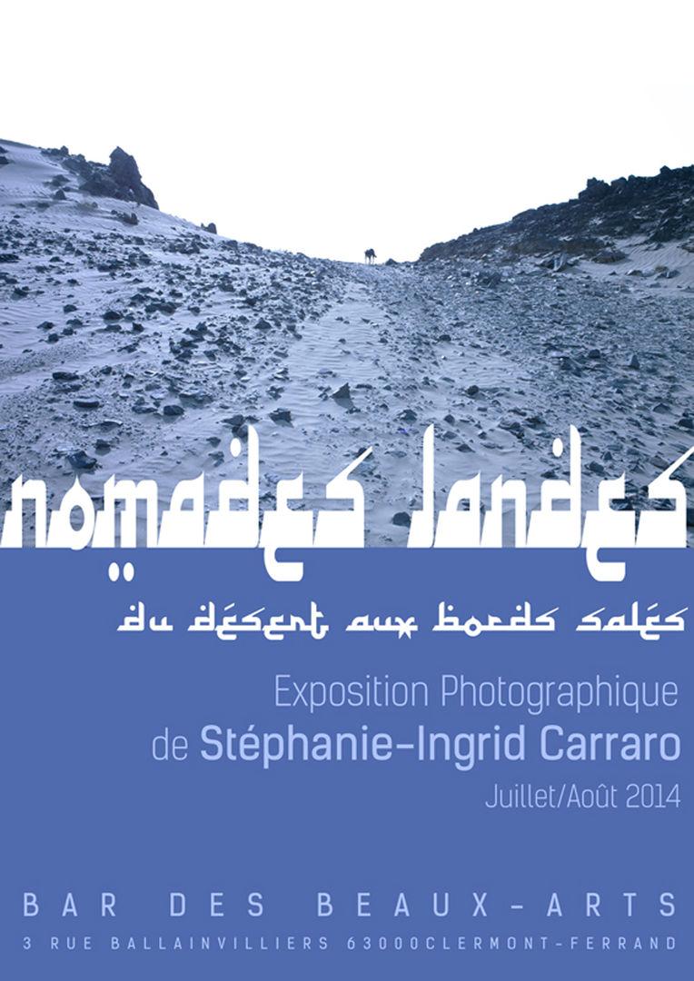 LES NOMADES LANDES //////////////////////////////////////  Affiche Poster d'Exposition  ////////////////////////////////////////  Stéphanie Carraro, l'Atelier de La Paloma Blanche.