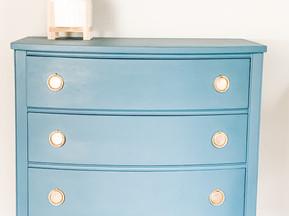 Vintage Dresser Makeover Shines in Seaside