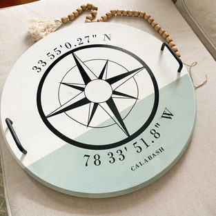 Personalized Compass Tray