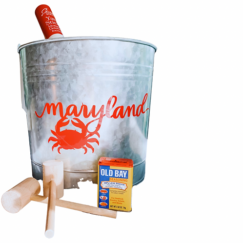 PERSONALIZED CRAB SHELL BUCKET