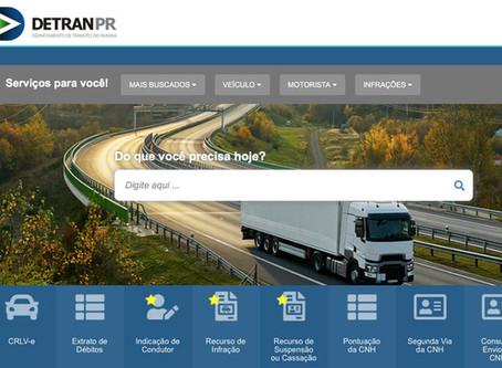 Novo portal do Detran-PR amplia serviços relacionados à infração