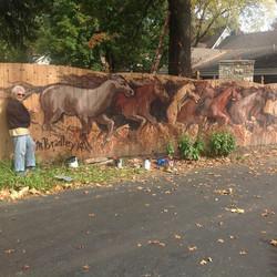 768 Horse Mural