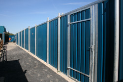 Rear view of Multisite hoarding - maximum space is made available in the compound