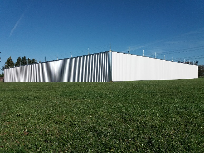 Multisite Steel Hoarding construction compound