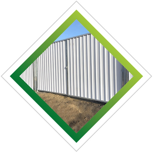 Multisite site hoarding double leaf gate