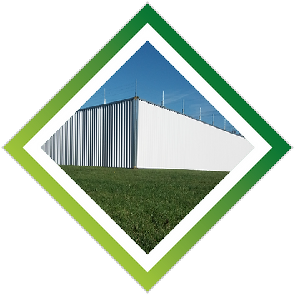 Multisite steel compound hoarding