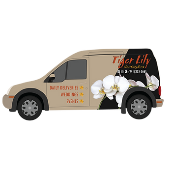 Tiger Lily Flowers Delivery Van