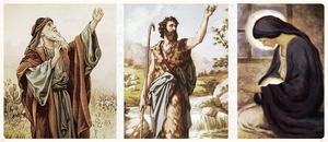 Las tres figuras del Adviento