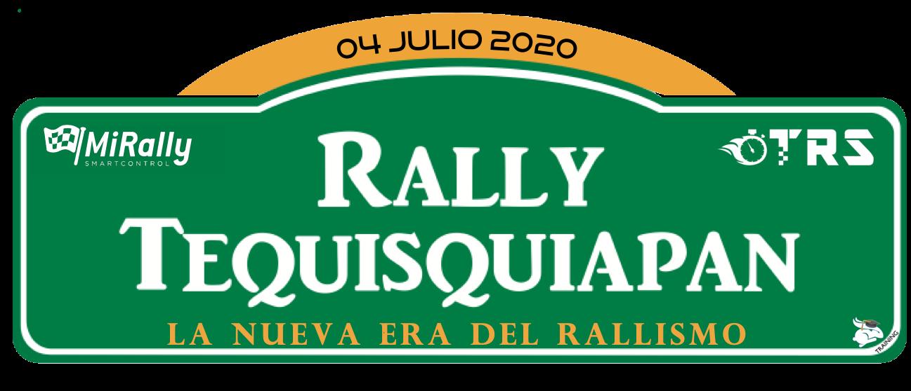 Placa Rally Tequisquiapan 2020 sin Fondo