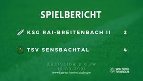 KSG Rai-Breitenbach II – TSV Sensbachtal 2:4 (0:2)