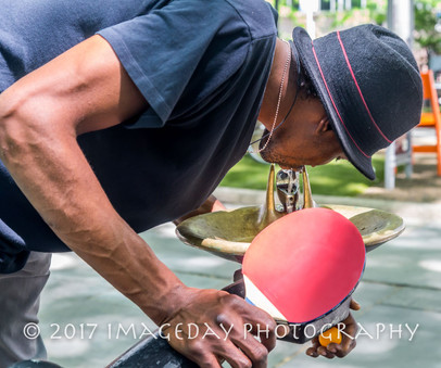Table Tennis in Bryant Park, New York