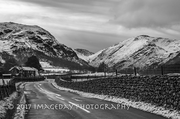 The road to Rossthwaite from Keswick