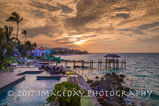 Sunset at Compass Point, Nassau, Bahamas