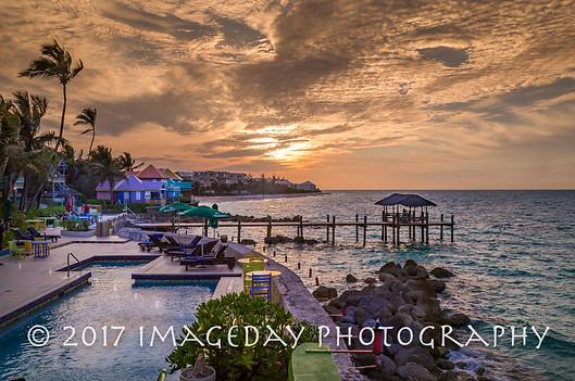 Sunset at Compass Point, Nassau, Bahamas