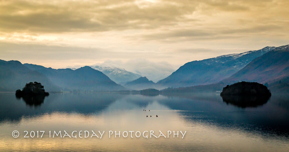 Mountains on the lake, Derwentwater