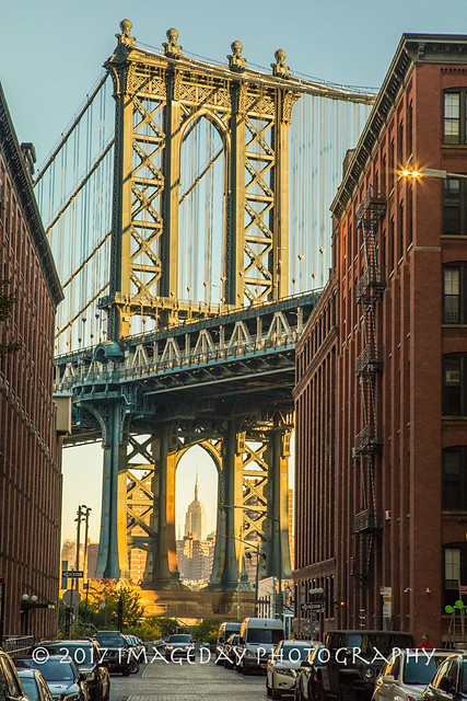 The Manhattan Bridge and Empire State Building