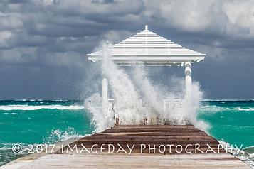 Stormy Sandyport Dock, Nassau, Bahamas