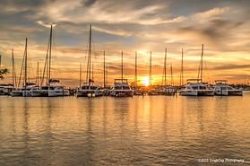 Sunset at Marsh Harbour, Abaco, Bahamas