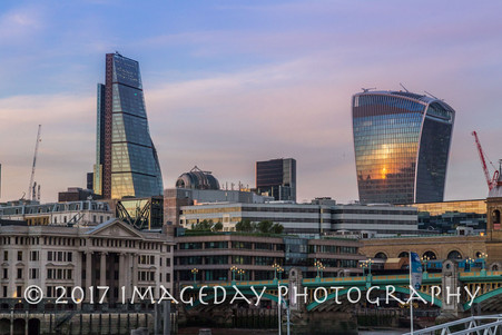 London in the evening