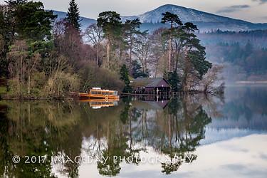 Steamer on the lake, Derwentwater