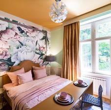 Interiér Vinohrady - Malba na zdi