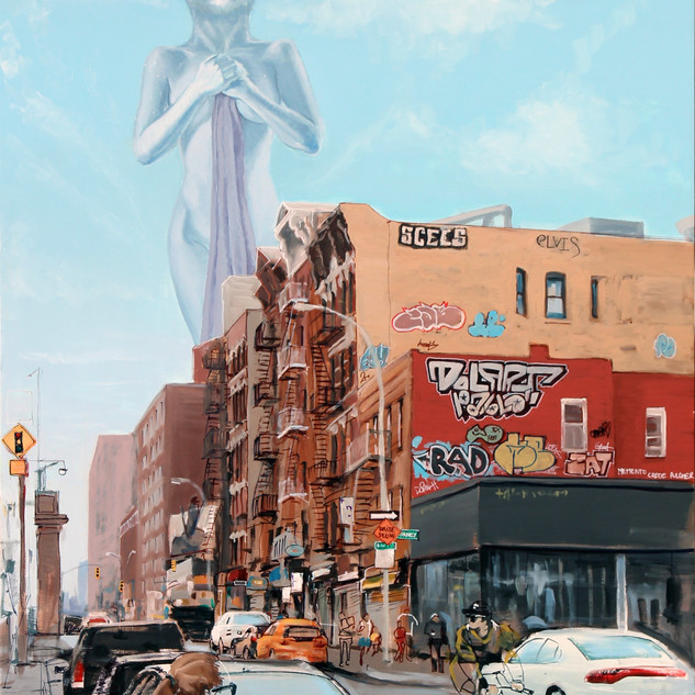 Demigodess over streets