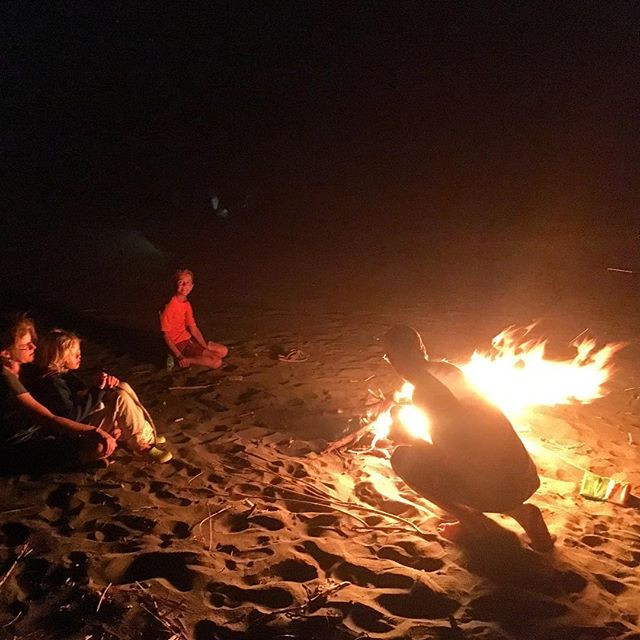 Closing bonfire with our amazing guests!