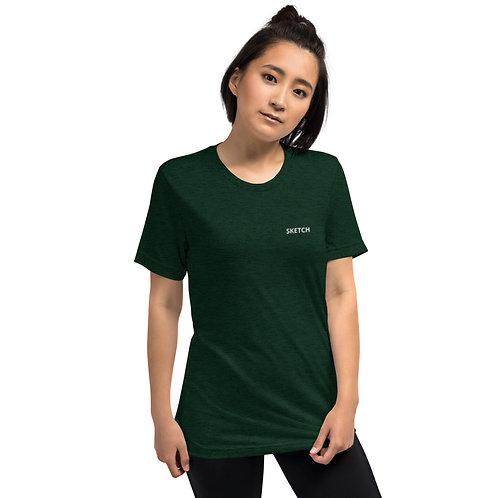 Designer Short sleeve t-shirt embroidered SKETCH logo