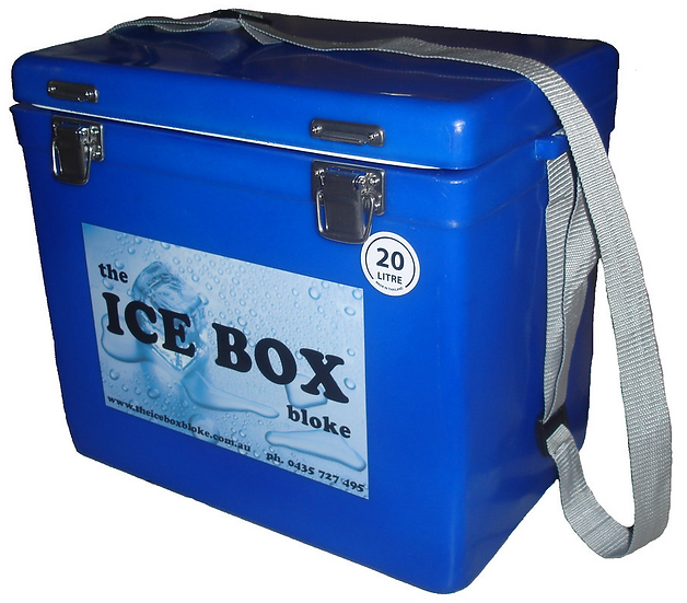 20 Litre Ice Box with Carry Handle (blue)