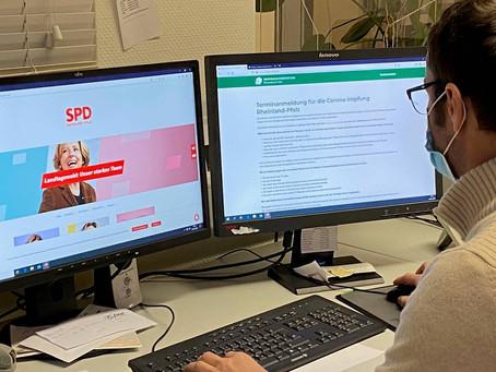 Wahlkreisbüro Kathrin Anklam-Trapp und SPD-Geschäftsstelle hilft bei der Vereinbarung von Impftermin