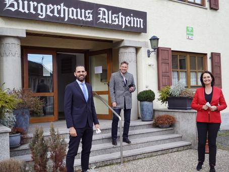 Modernisierung des Alsheimer Bürgerhaus mit 432.000€ Landesmittel