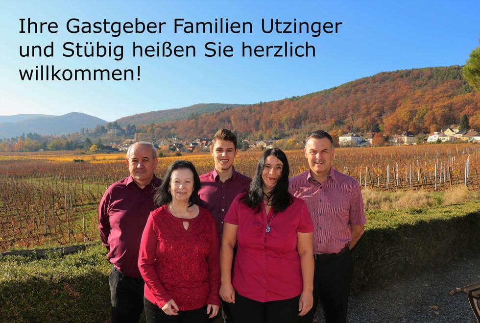 Ihre Gastgeber Familien heißen Sie herzlich willkommen!