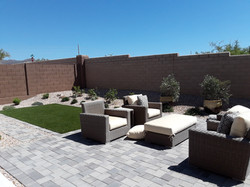 Backyard seating feature package