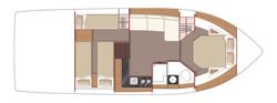 Floor plan lower deck
