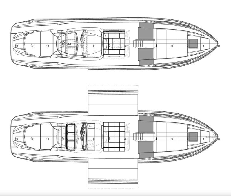 Cruiser 42 floor plan Inter