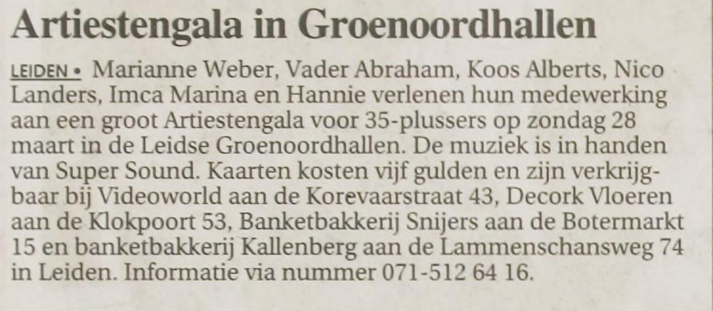 Leidsch Dagblad _ 1999 _ 16 maart 1999 _
