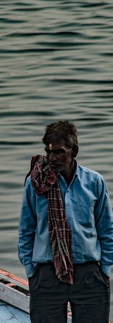 Indian Man on Boat