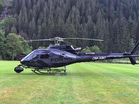 Luftaufnahmen mit Hubschrauber