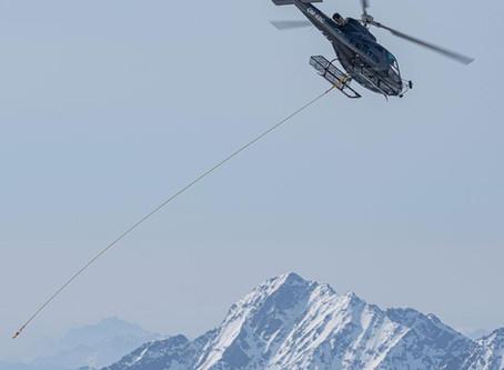 Lastentransporte mit dem Hubschrauber