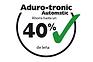 Mínimo esfuerzo – combustión óptima Aduro-Tronic Automatic es un sistema patentado por Aduro. Con un sencillo gesto, el Aduro-Tronic permite regular el aporte de aire exacto a la cámara de combustión.