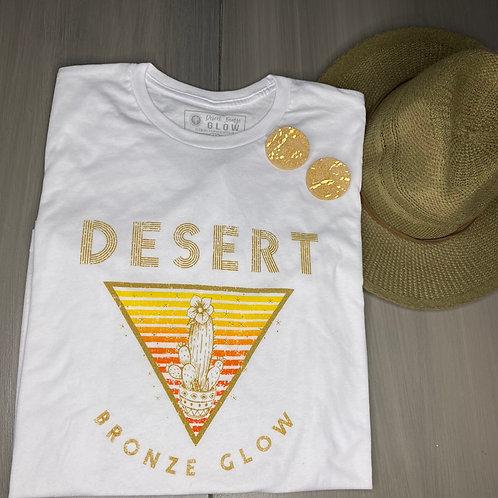 Desert Blossom Short Sleeved White T-Shirt