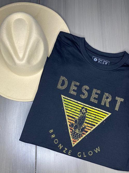 Desert Blossom Short Sleeved Black T-Shirt