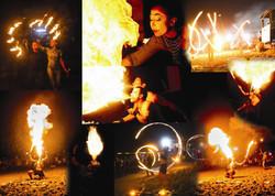 collage fuoco
