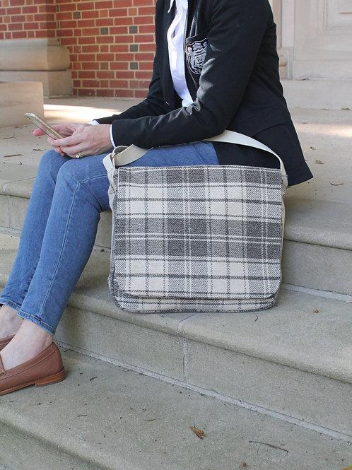 Cream Tartan Plaid Molly Messenger Bag